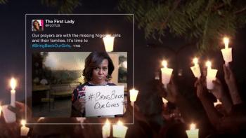 Auffällig viele von der Firma ausgewählte Tweets  handeln von Katastrophen und Konflikten
