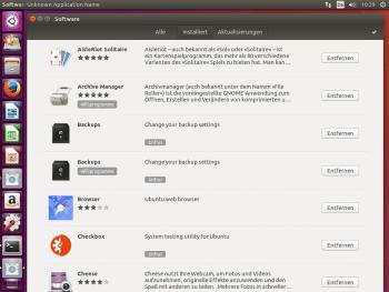 Gnome-Software bei der Beta von Ubuntu 16.04 LTS.