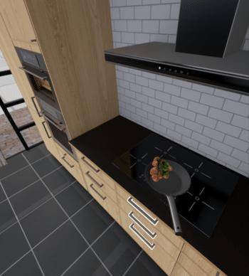"""Schnarch: Bei der """"Ikea VR Experience"""" darf man eine Pfanne aus der Schubladen nehmen -- viel mehr allerdings nicht."""