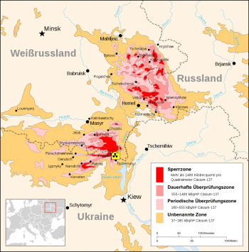 Die Sperrzone in der Umgebung von Tschernobyl