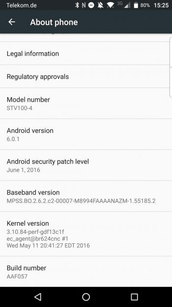 Die aktuelle Version erkennt man an der Build Number AAF057