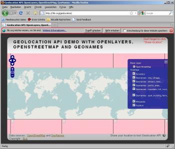 Firefox 3.5 - geolocation