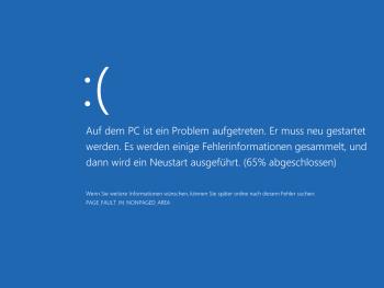 Ormandys Proof of Concept funktioniert: Nachdem wir die Test-Dateien ausführte, begrüte uns der Blue Screen of Death.