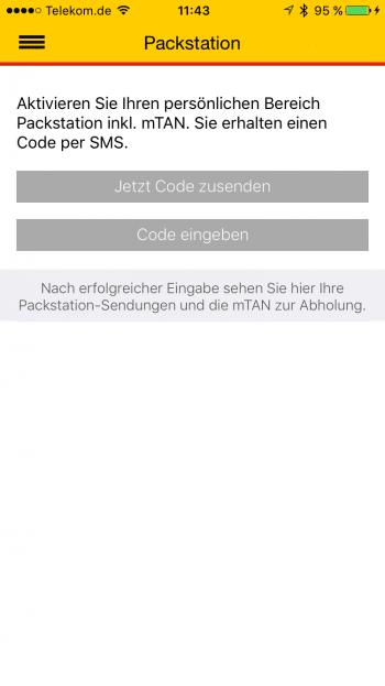 Bevor man die mTAN per App abrufen kann, muss man einen per SMS zugestellten Aktivierungscode eingeben.