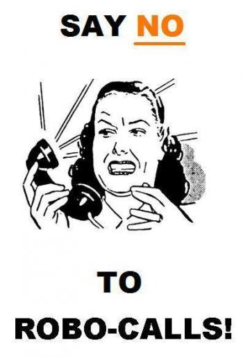 "Plakat ""Say NO to Robo-Calls"""