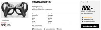 Auf der Media-Markt-Website gab es heute kurzzeitig sehr konkrete Details zu Oculus Touch zu sehen.