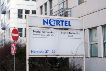 Firmenschild Nortel Networks Germany