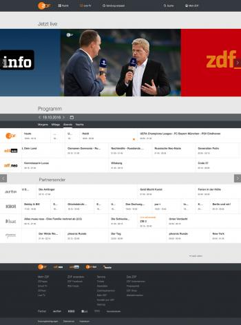 Livestreams in der ZDFmediathek