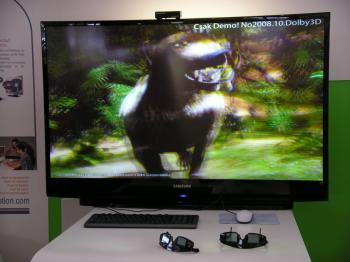 Am DLP-Rückpro-TV benötigt man eine Shutterbrille für die 3D-Effekte