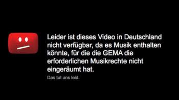 Jahrelang haben Einblendungen wie diese deutsche YouTube-Nutzer genervt. Schuld daran waren beide Parteien, da sowohl YouTube als auch die GEMA auf ihren Standpunkten behaarten.