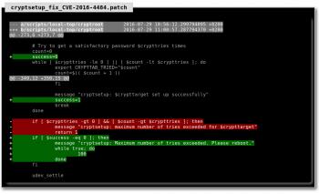 Die Entdecker der Lücke schlagen einen Patch vor, der das System nach der gescheiterten Passwort-Eingabe in eine Endlosschleife laufen lässt.
