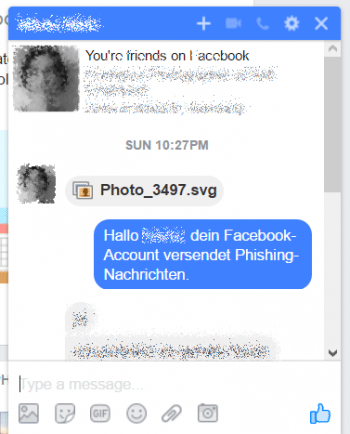 Facebook Messenger: Malware via SVG