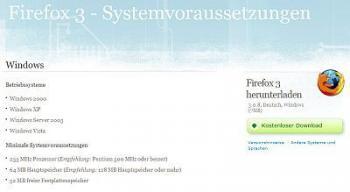Systemvoraussetzungen Firefox 3