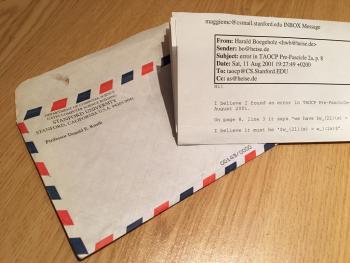 Brief von Donald E. Knuth