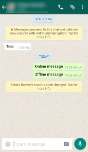 Der Sender bekommt erst danach den Hinweis auf den geänderten Schlüssel.