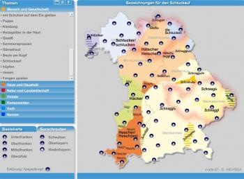 """Der """"sprechende Sprachatlas"""" enthält Tondokumente aus insgesamt 70 Orten in Bayern."""