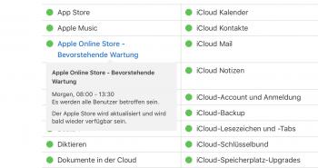 Apple Online Store Wartung