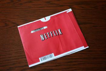 """DVD-Papierhülle mit Aufschrift """"Netflix"""""""