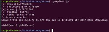 Mit einem Proof-of-Concept-Exploit konnte heise Security demonstrieren, dass sich die Lücke eignet, um Code übers Netz auszuführen.