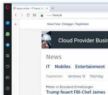 Facebook-Messenger, Telegram und WhatsApp finden in einer neuen Seitenleiste ein Zuhause im Opera-Browser.