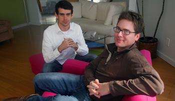 Stone veröffentlichte dieses ältere Foto aus dem Jahr 2006 von sich und seinem Kollegen Jack Dorsey aus dem damals ersten Firmensitz von Twitter.