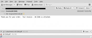 Vorsicht bei Mails mit einem PDF-Dokument im Anhang: Darüber will Jaff Computer infizieren.