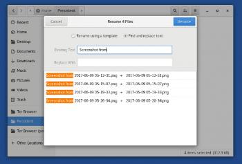 Ab sofort kann man mehrere Dateien auf einmal umbenennen. Zudem lassen sich gepackte Archive ohne Extra-Anwendung entpacken.