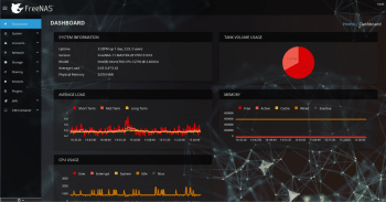Das neue Dashboard von FreeNAS 11.0.