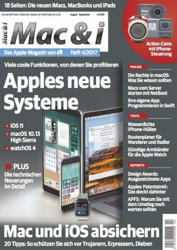 Mac & i Heft 4/2017: Titelbild …