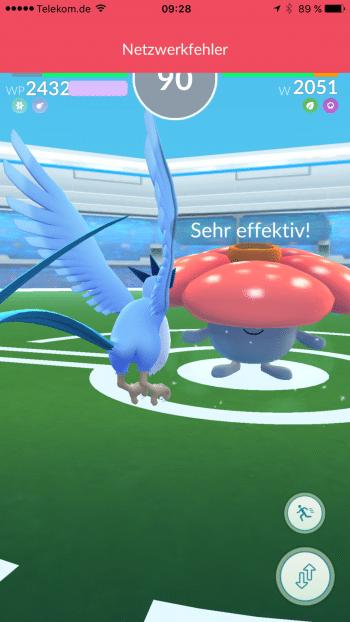 """Die gefürchteten """"Netzwerkfehler"""" treiben viele Pokémon-Go-Spieler zur Verzweiflung."""