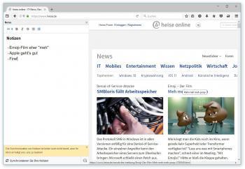 """Die experimentelle Funktion """"Notes"""" erweitert Firefox um einen Notizblock. Künftig könnt es eine Synchronisation für die Notizen geben – wenn die Nutzer das wollen."""