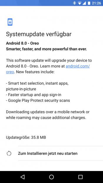Beta-Tester erhalten das Update auf Oreo offenbar sehr zeitnah.