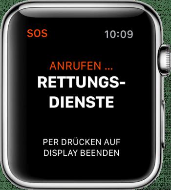 Notruf Apple Watch
