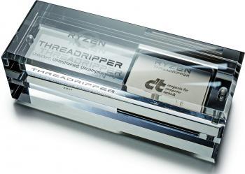 AMD Ryzen Threadripper: Dummy mit c't-Logo