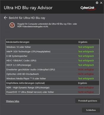Cyberlink Ultra HD Blu ray Advisor
