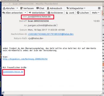 Achtung: Aktuelle Spam-Kampagne fälscht Absender von Mitarbeitern