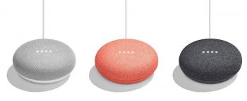 Google Home Mini ist in drei Farben erhältlich.