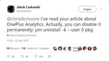 Tweet von Jakub Czekanski