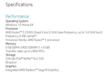 HP ENVY x360 15-bq101na: Ryzen 5 2500U und eine integrierte Vega-M-GPU.