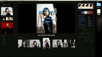 Die Fotos analysiert Sensei ebenfalls. So kann man alle Bilder eines Shootings etwa nach Blickrichtung sortieren.