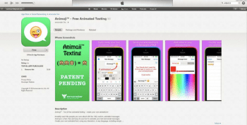 Die Animoji-App des Klägers ist immer noch im App Store zu finden –mit verändertem Icon.