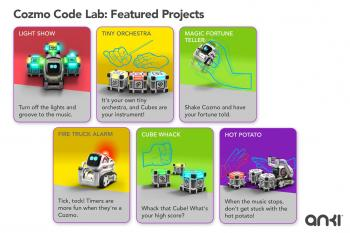 """Die Code-Lab-Erweiterung kommt mit einer Reihe von Demoprojekten, die sich analysieren und verändern (""""remixen"""") lassen."""