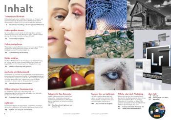 Das Inhaltsverzeichnis der c't Fotografie Meisterklasse mit dem Schwerpunkt Bildbearbeitung