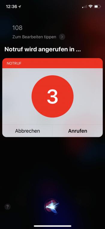 Siri Notruf