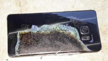 Abgebranntes Galaxy Note 7