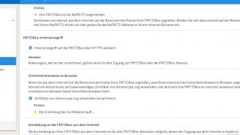 Die Zertifikate fordert die Fritzbox automatisch an.
