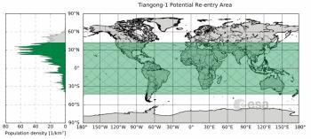 Absturzgebiet Tiangong 1