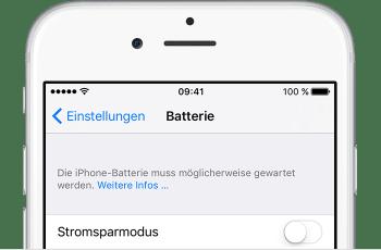 iPhone-Akku defekt