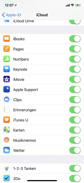 iCloud-Dienste