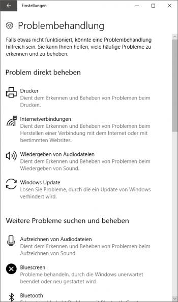 Windows-Problembehandlung